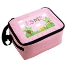 Personalised Animal Alphabet Pink Lunch Bag