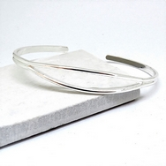 Non-personalised Silver Open Bangle