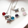 Personalised Batang Star Necklace - Birthstone