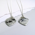 Personalised Rockwell Necklace - SS Heart Tag