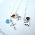 Birthstone Necklace - SP Charm