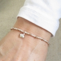 Duo Ball Bracelet - SS Mini Heart