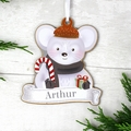 Set Of 4 Personalised Christmas Characters Decorations