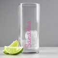 Personalised Pink Name Glass