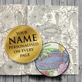 Personalised Adult Colouring Softback Book