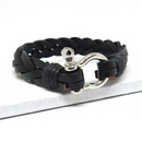 Leather Shackles Clasp Bracelet
