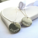 Personalised Border Necklace - SS Disc