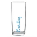 Personalised Blue Name Glass