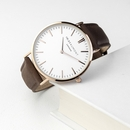Personalised Men's Modern-Vintage Brown Leather Watch