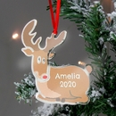 Personalised Rudolph The Red Nosed Reindeer Metal Tree Decoration