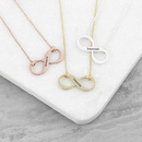 Personalised Infinity Twist Necklace